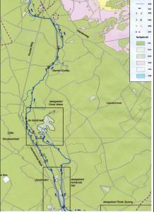 Topografische overzichtskaart Leuvenumse beek