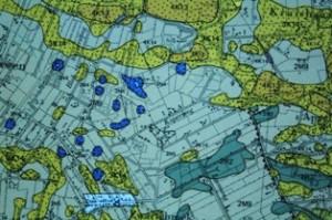 2014-03 1 Het dekzand is geel gekleurd (bron Geomorfoligische kaart)