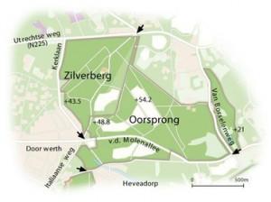 De Source ligt onder de letter e van Zilverberg aan de Italiaanseweg (gedeelte tussen Kerklaan en Utrechtseweg)