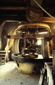 Kollergang in de oliemolen van Van Zadelhoff