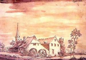 Tekening van Jacobus Stellingwerff uit 1662