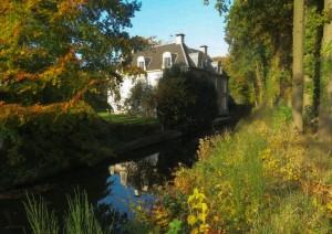 Grift langs landgoed De Bonenburg bij Heerde vlak voor aansluiting op Apeldoorns Kanaal