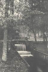 Historische opname van de waterval van de voormalige Zandmolen