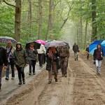 Groep excursiedeelnemers langs de Poolseweg (foto: Nel Appelmelk).