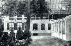 Historische opname van de voormalige wasserij 'De Veldekster' van omstreeks 1900