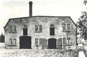 Historische opname van de Bovenste Molen te Loenen