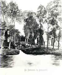 Historische opname van de voormalige Pelmolen