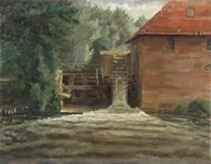 De Quadenoordse Molen op een schilderij van W. Roelofs uit 1850