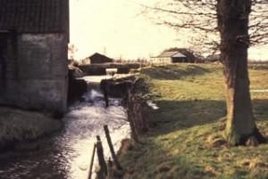Historische opname van de achterzijde van de voormalige Wisselse Korenmolen