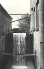 Historische opname uit 1936 van de waterval van de Zilvense Korenmolen