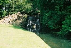 Grote Waterval in het park Sonsbeek