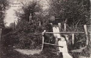 Historische opname van de waterval van het Kerstens Molentje