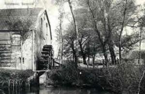 Historische opname van de voormalige korenmolen bij de Tol