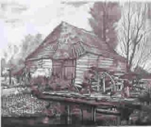 Afbeelding uit 1942 van de Nijenbeker Korenmolen te Voorst