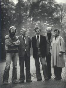 Vaassen: bestuur Stichting 1980, vlnr. Wim Oosterloo, Jan van Zellem, Gerard te Riele, Henk Menke, Yvonne Roelants. (fotoarchief Bekenstichting)