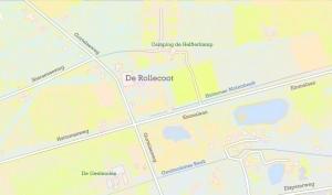Kaart Rollekoot en omgeving (Henri Slijkhuis)