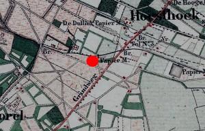 Kaart van 1872 (bron: bestemmingsplan gem. Epe)